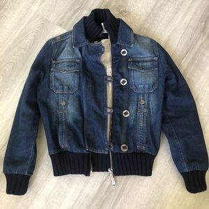 BURBERRY LONDON WOMENS DENIM BOMBER